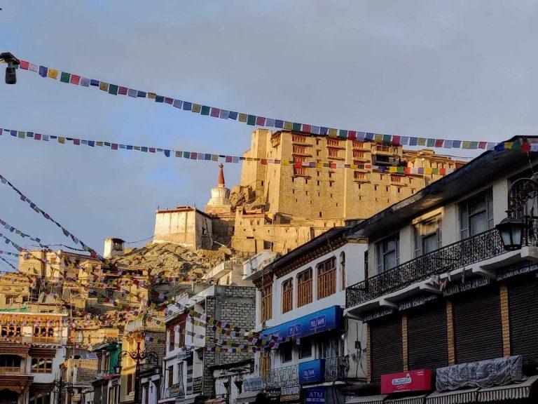 Leh Palace from the Leh Market