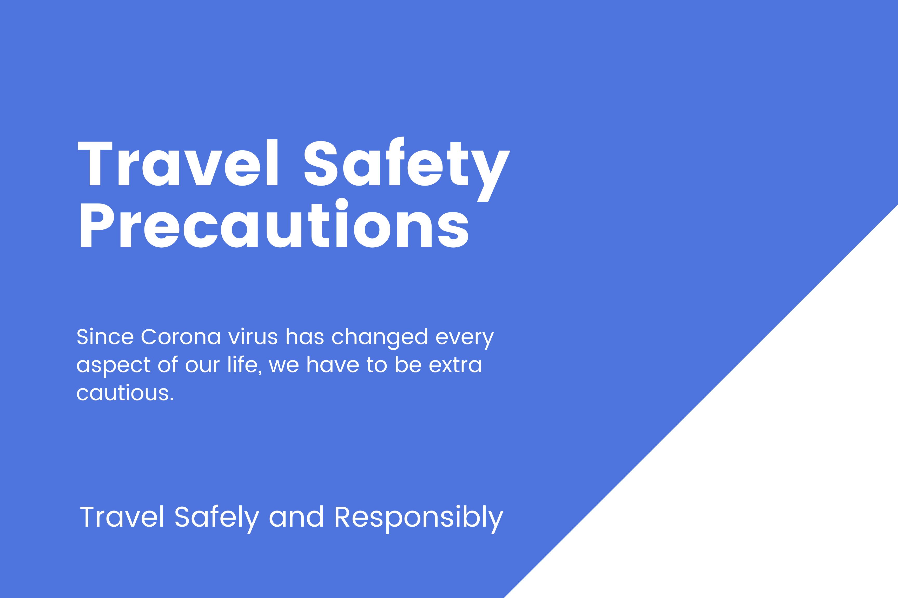 Travel Safety Precautions