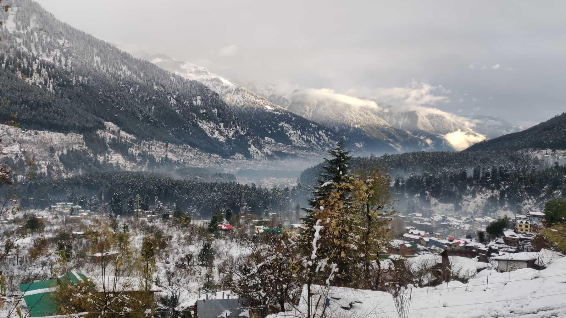 Manali in Snow